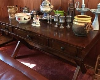 Set of 2 Executive desks plus Knick knacks on top of this one