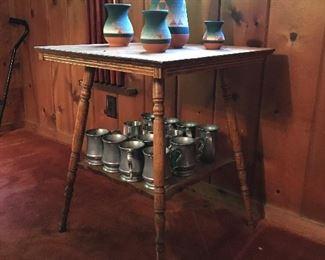 Table, cups, ceramics