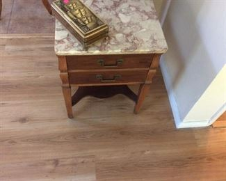 Marble topped side table $10