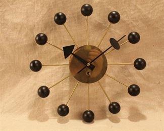 Mid Century George Nelson winding Ball Clock