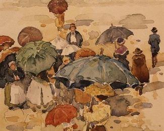 Maurice Brazil Prendergast (1858-1924) Watercolor on paper