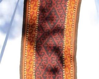 "Vintage/Antique Rare Hand Woven ""Tent Decoration"", Rug/Runner"