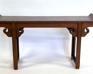 A Hongmu Trestle Leg Altar Table