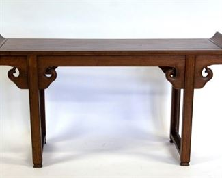 A Hongmu Trestle Leg Altar Table