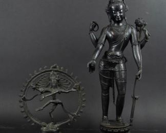 An Indian Bronze Figure of Avalokitesvara