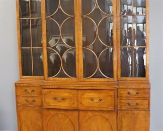 Antique And Fine Quality Satinwood Breakfront