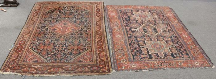 Antique And Finely Hand Woven Area Carpets