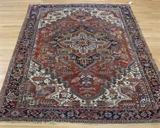 Antique And Finely Hand Woven Heriz Carpet