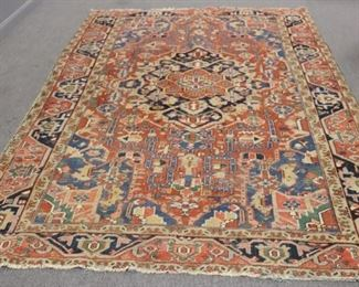 Antique And Finely Hand Woven Roomsize Heriz