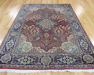 Antique And Finely Hand Woven Tabriz Carpet