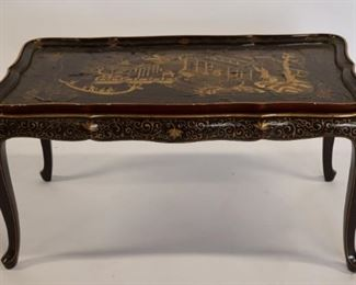 Antique Chinoiserie Decorated Tray Top Table