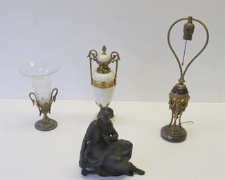 Antique Grouping Of Urns An Epergne A Bronze