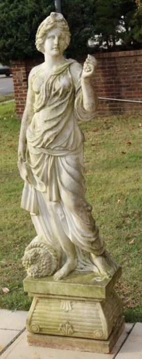 Antique Life Size Marble Sculpture Of A Beauty