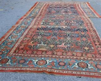 Antique Palace Size Finely Hand Woven Carpet AsIs