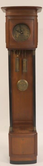 Antique Tallcase Clock With Inlaid Case