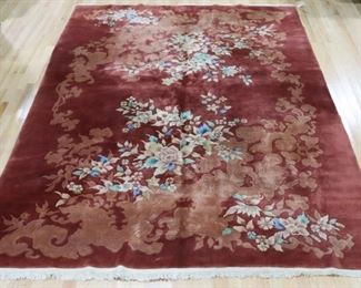 Art Deco Finely Hand Woven Chinese Carpet