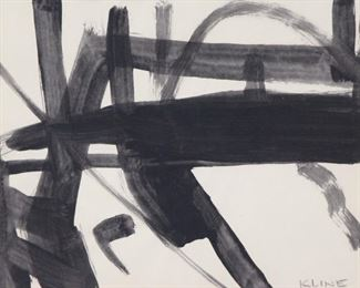 ATTRIBUTED TO FRANZ KLINE AMERICAN th CENTURY