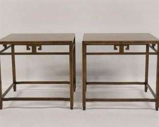 BAKER Signed Pair Of Asian Modern Style Tables