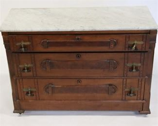 Brooks Brothers Signed Marbletop Chest