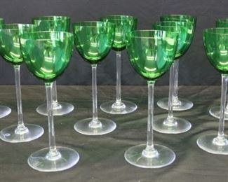Colored BACCARAT Wine Glasses