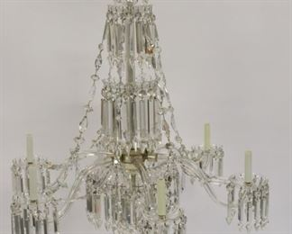 Fine Victorian Cut Glass Chandelier