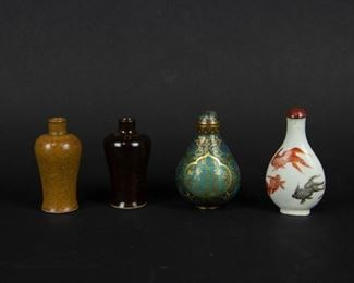 Group of Four Snuff Bottles