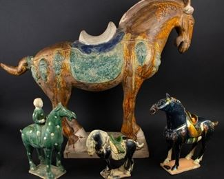 Group of Four Tang Style Horses