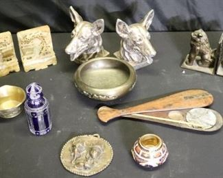 Grouping Of Miscellaneous Antique Cabinet Items
