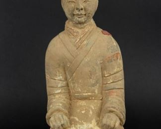 Han Style Figure of a Female Attendant