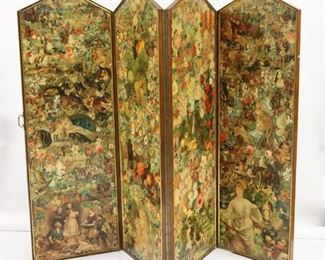 Impressive Antique Panel And Double Sided