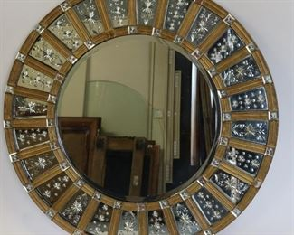 Impressive Art Deco Sunburst Form Mirror
