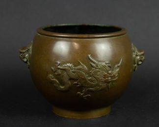 Japanese Bronze Dragon Censer