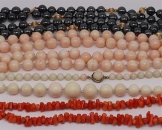JEWELRY Assorted Beaded Necklaces Inc Coral