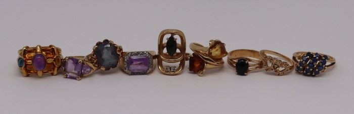 JEWELRY Assorted Gold Cocktail Rings