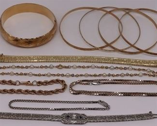 JEWELRY Assorted Gold Necklaces and Bracelets