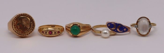 JEWELRY Assorted Gold Rings