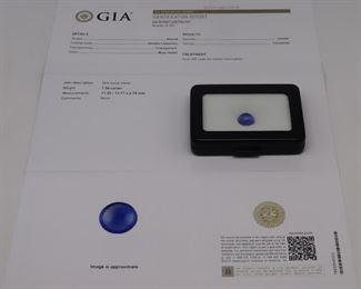 JEWELRY GIA ct Tanzanite Double Cabochon