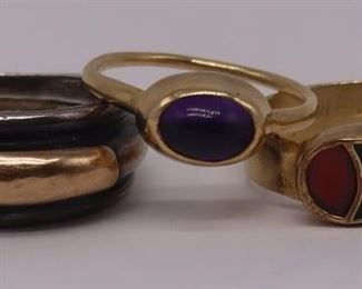 JEWELRY Gold and Silver Rings Inc Lalaounis