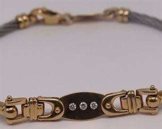 JEWELRY Italian kt Gold and Diamond Bracelet