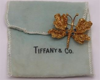 JEWELRY Italian Tiffany Co kt Gold Butterfly
