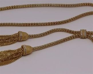 JEWELRY Judith Ripka Gilt Sterling Necklace