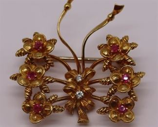 JEWELRY Italian Tiffany Co kt Gold Ruby