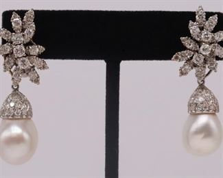 JEWELRY kt Gold and Diamond Floral Spray Ear