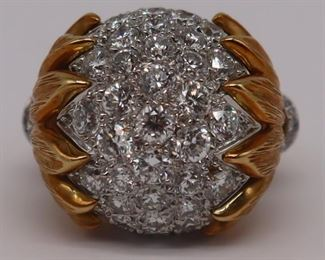 JEWELRY kt Gold and Diamond Cocktail Ring