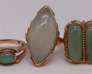JEWELRY kt Gold and Jade Rings