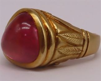 JEWELRY kt Gold and Pink Tourmaline Ring