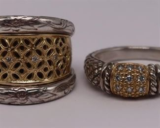 JEWELRY kt Gold Sterling and Diamond Rings