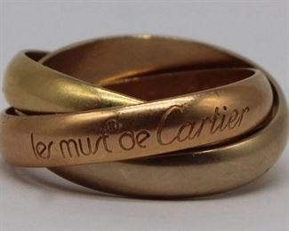 JEWELRY Les Must de Cartier kt Trinity Ring