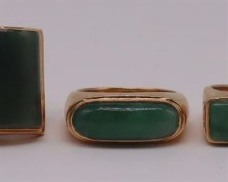 JEWELRY Mings kt Gold and Jade Rings