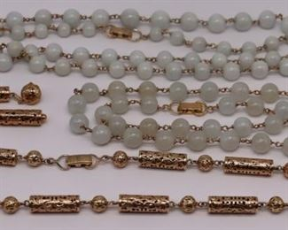 JEWELRY Mings kt Gold and Jade Jewelry Group